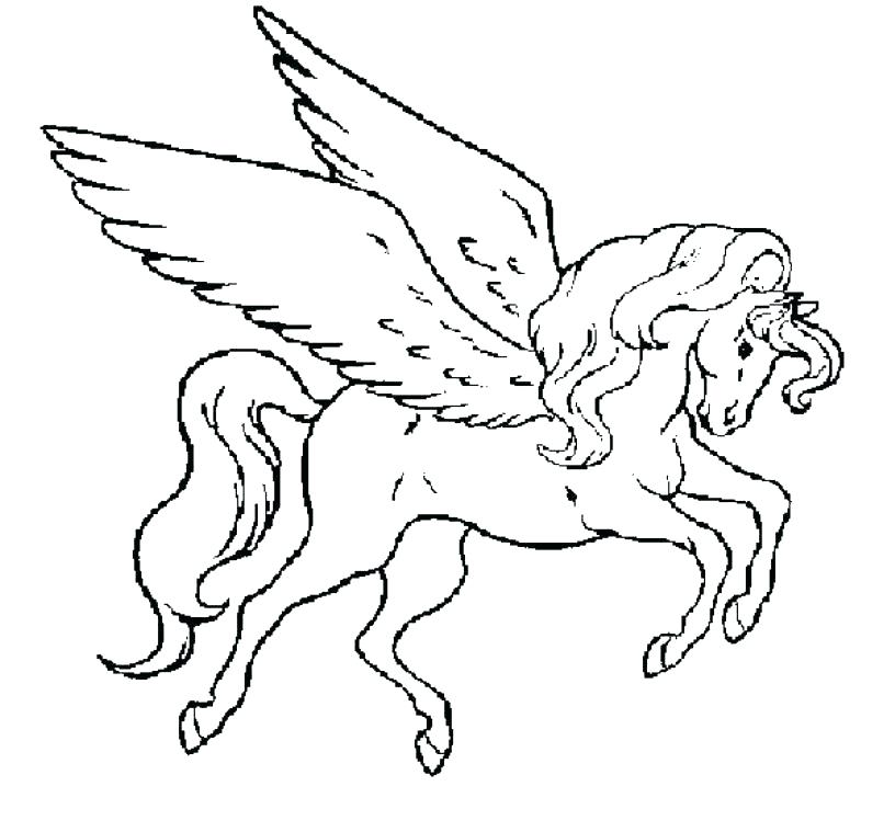 816x759 Unicorn Coloring Pages Unicorn With Wings Coloring Pages Winged
