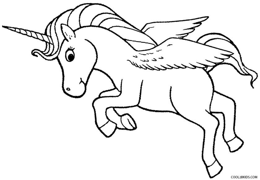Unicorn With Wings Coloring Pages At Getdrawings Free Download