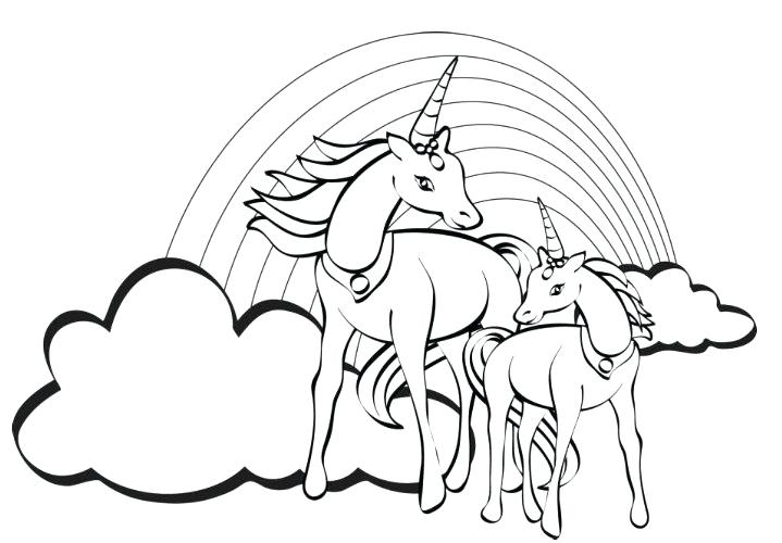 719x500 Unicorn Pictures To Color As Well As Free Unicorn Coloring Pages