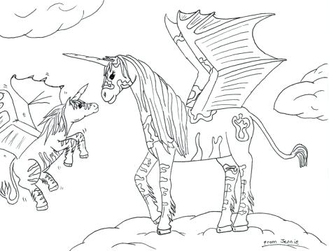 470x359 Unicorn Wings Coloring As Well As Unicorn Wings Coloring Pages As
