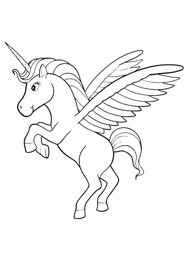 600x840 Unicorn With Wings Coloring Pages Coloring Pages Printable Cute