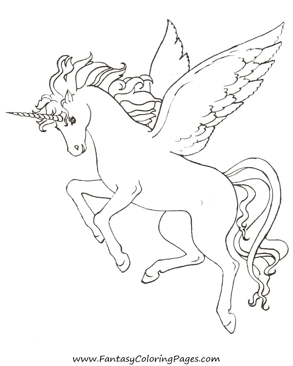 960x1200 Unicorn With Wings Coloring Pages Page Free Printable