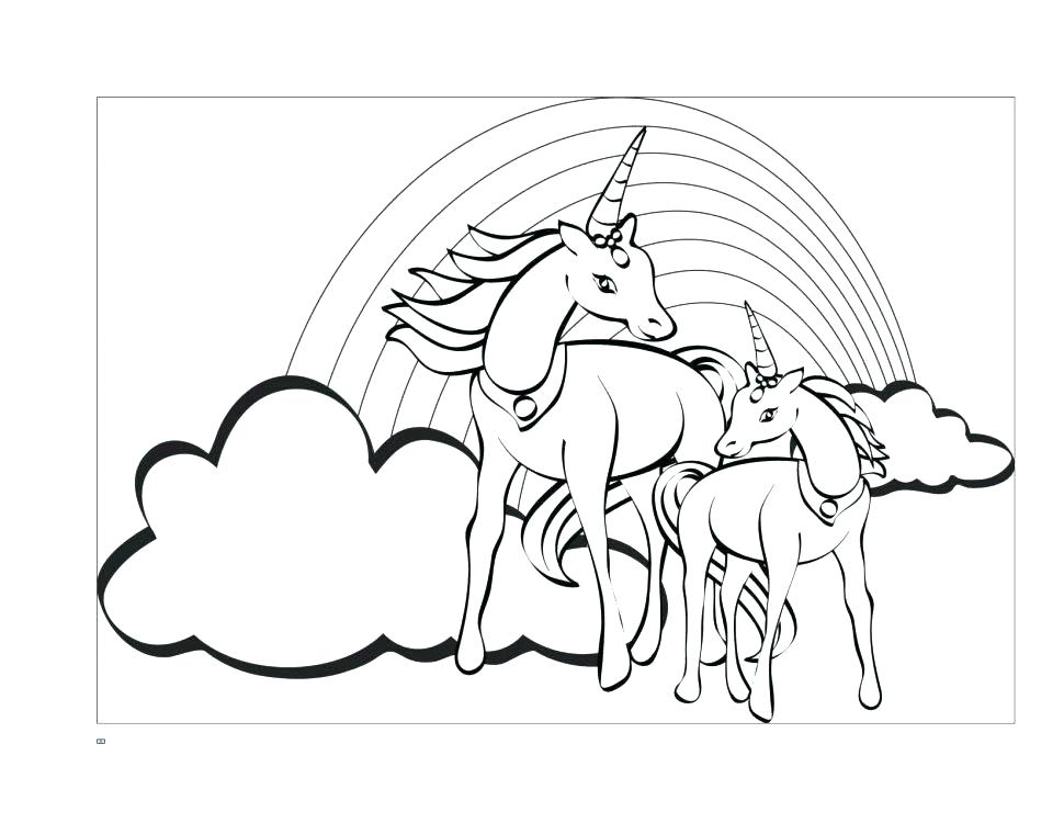 970x750 Unicorn Wings Coloring Pages