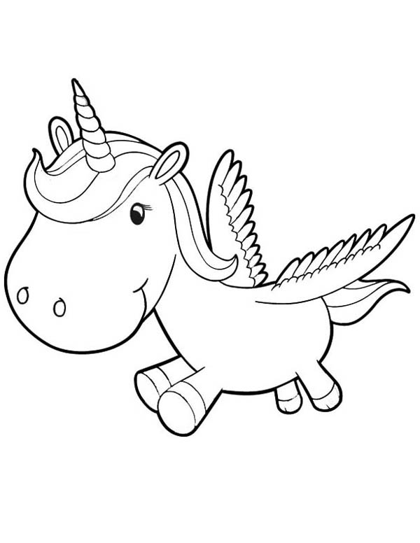 600x776 Cute Pegasus Coloring Pages