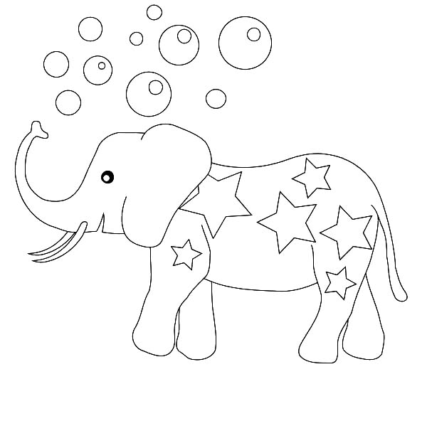 600x630 Circus Elephant Ride Unicycle Coloring Pages Circus Elephant Ride