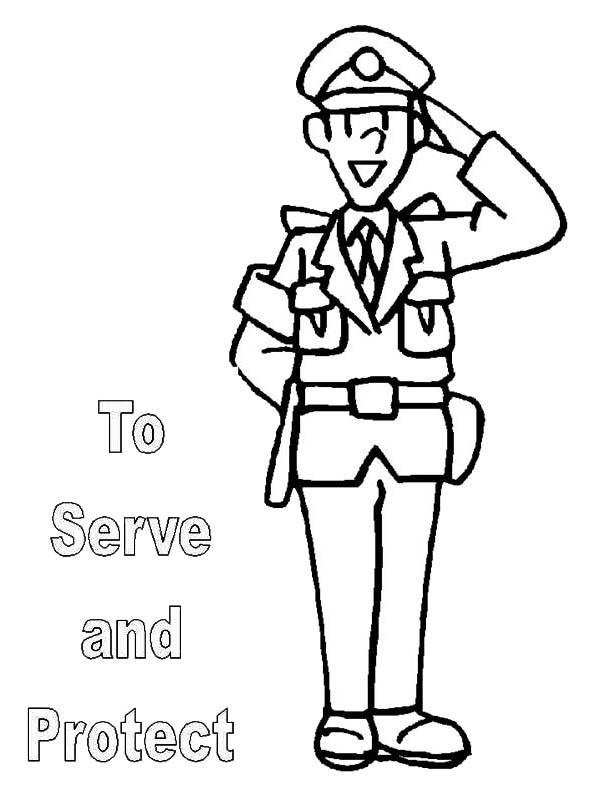 600x800 Police Officer Uniform Coloring Pages