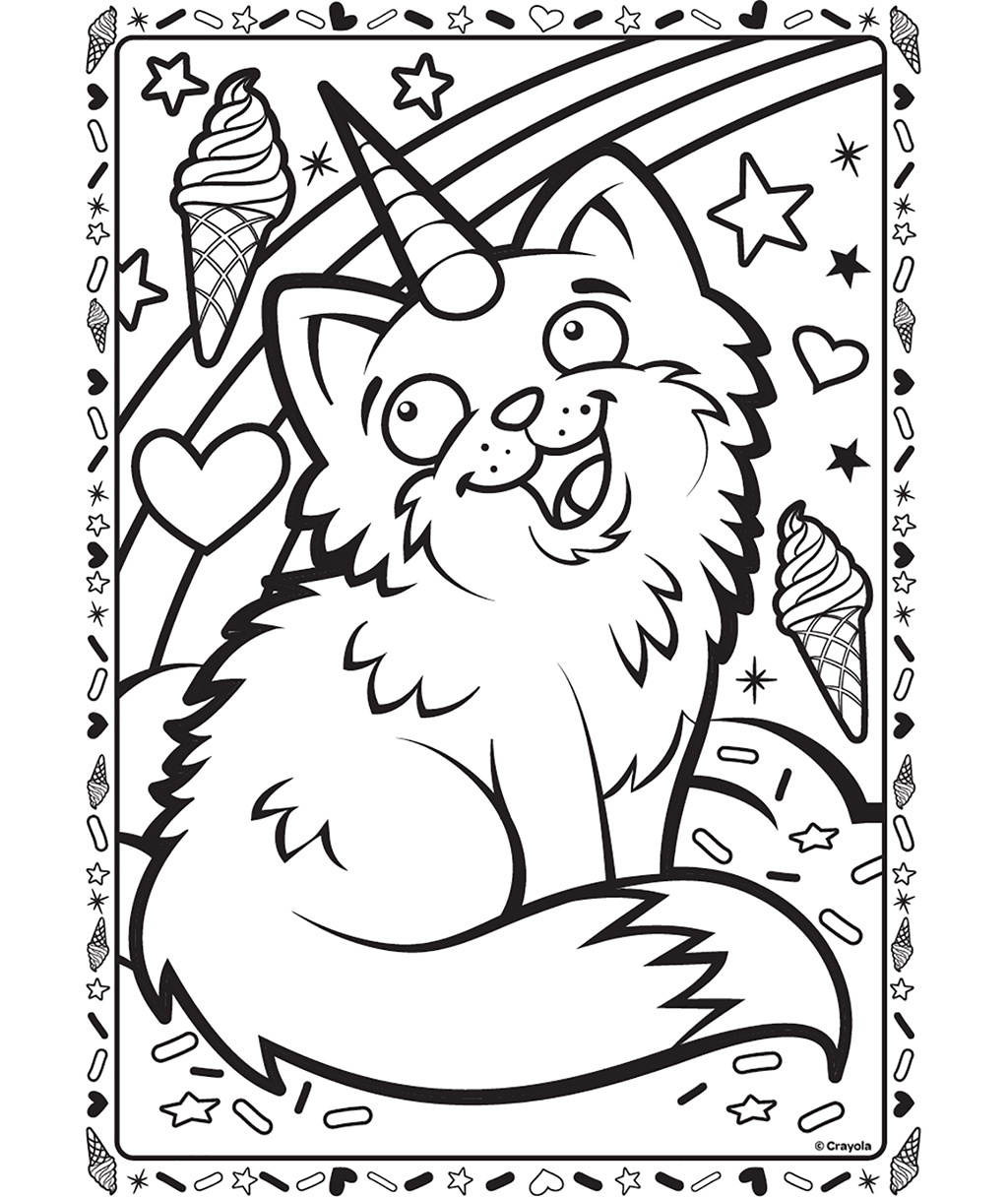 1024x1216 Uni Kitty Coloring Page