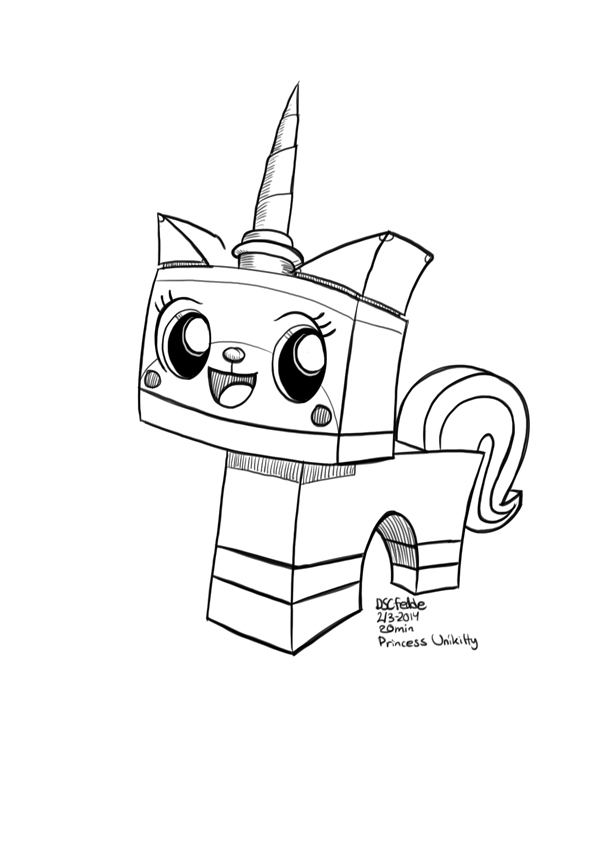 600x846 Unikitty Lego Movie Coloring Pages