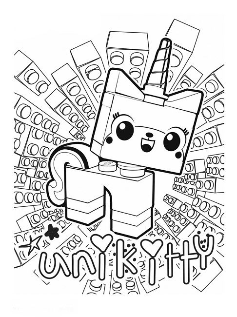 486x650 Unikitty Lego Coloring Pages Movie