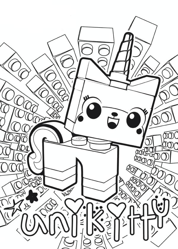 Unikitty Lego Coloring Pages at GetDrawings.com | Free for personal ...