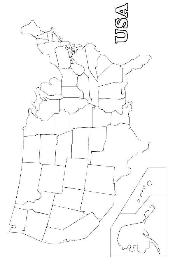 600x900 States Coloring Pages Us Map Coloring Page Coloring Page Of United