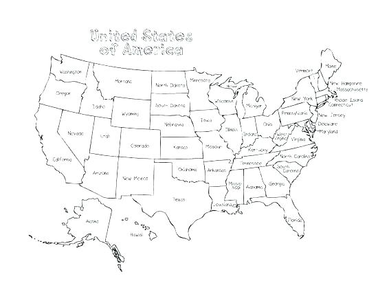 550x425 United States Coloring Pages United States Coloring Pages Map