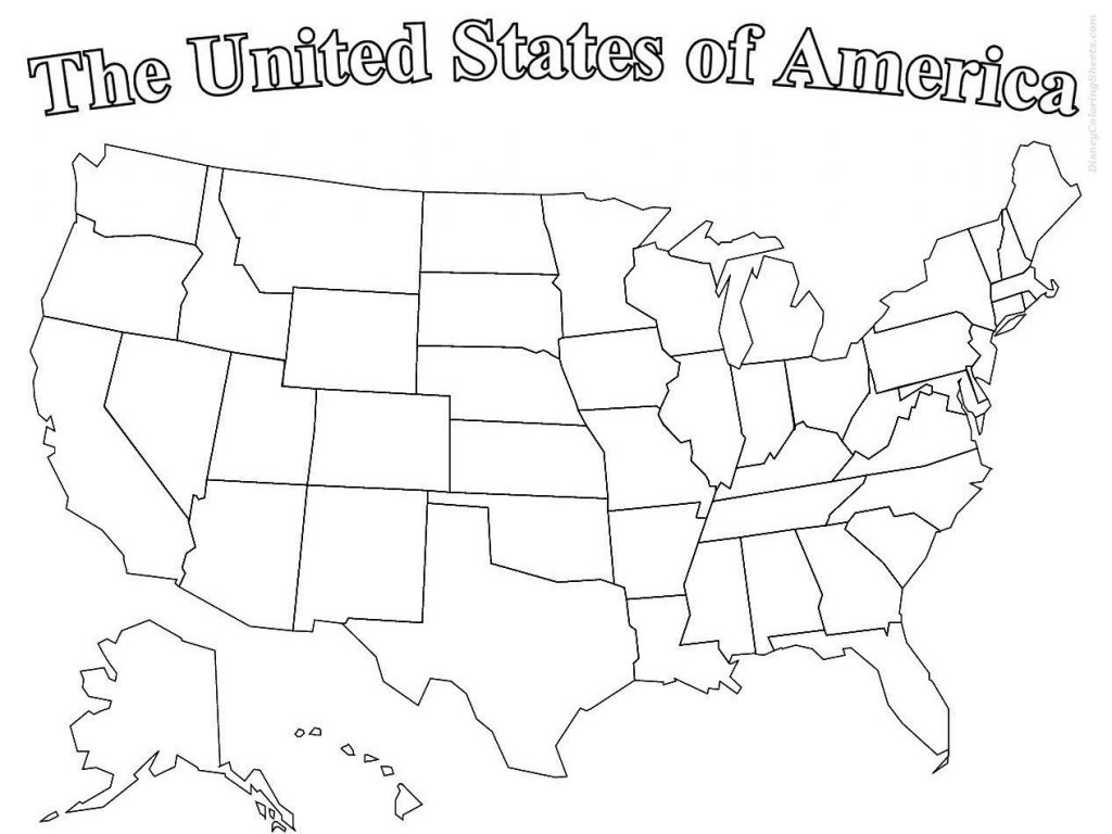 1024x768 Willpower Map Of Usa Coloring Page Free Printable Pages United