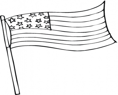 400x322 Flag Pole Coloring Page Image Clipart Images