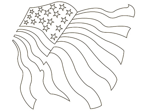 480x360 Free American Flag Coloring Pages