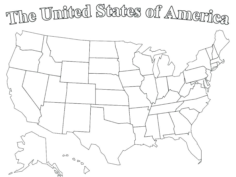 974x731 United States Coloring Page United States Coloring Sheet Southern