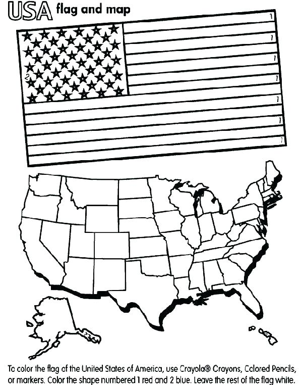601x762 United States Flag Coloring Page Flag Coloring Pages Blank Flag
