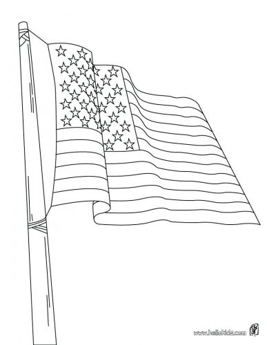 387x500 Coloring Page United States Flag Coloring Page Of America Sheet