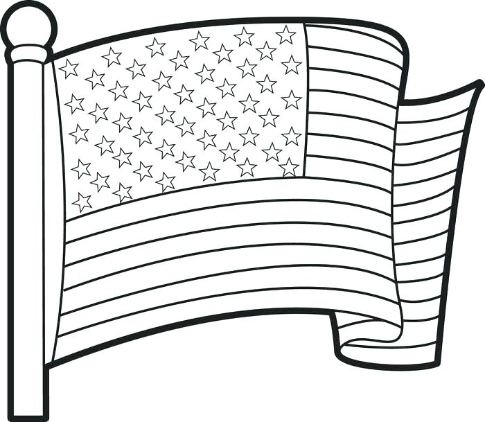 700x609 Coloring Page Of The United States Flag Coloring Page Printable