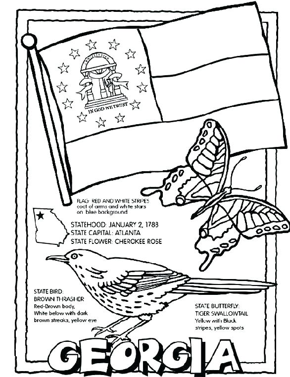 586x762 Coloring Page Of United States Pages On State Flag State Coloring