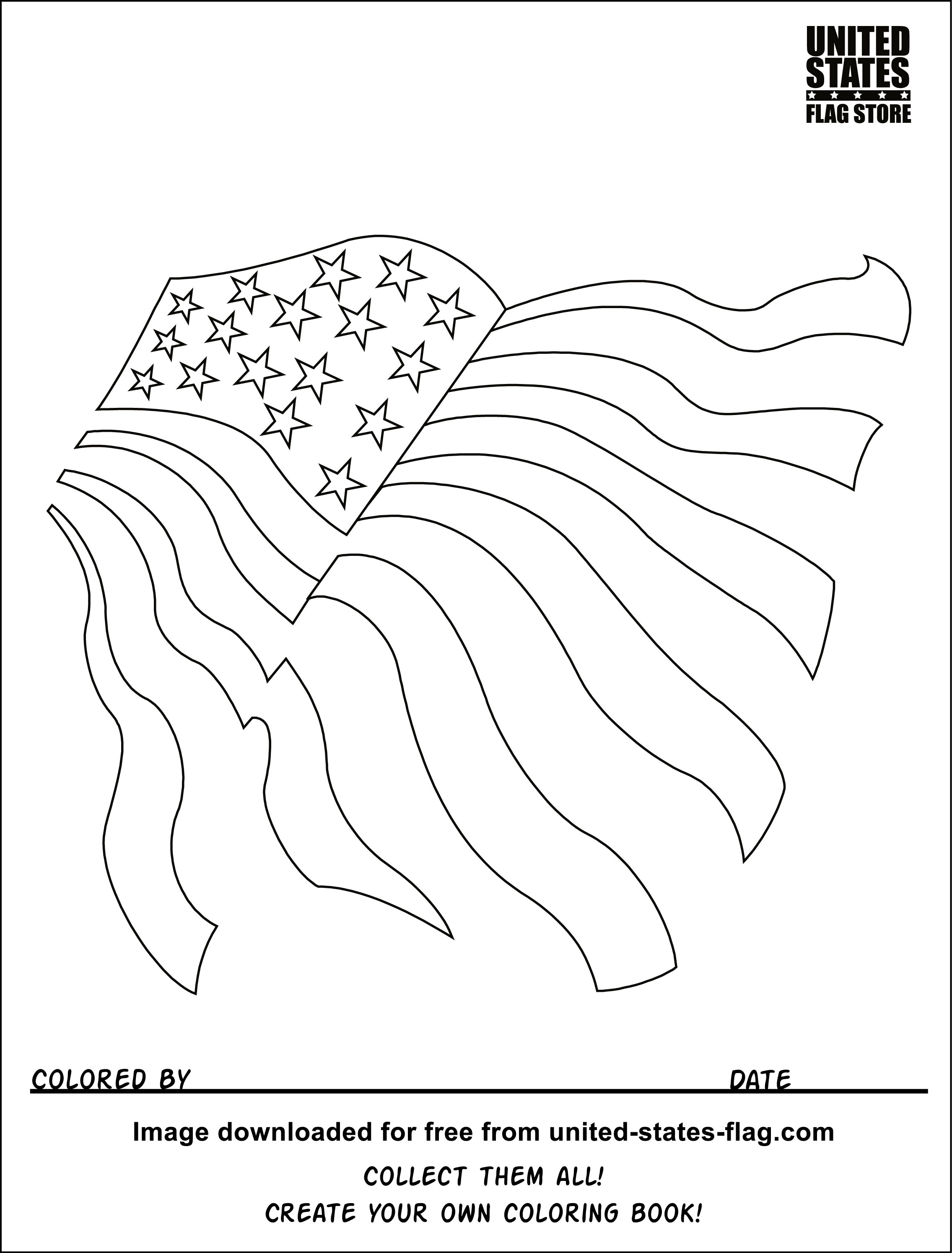 photograph about United States Flags Printable named United Suggests Flag Coloring Internet pages Printable at GetDrawings