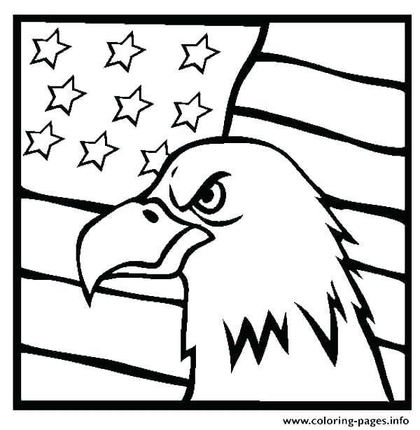 600x613 Free American Flag Coloring Pages United States Of Page Worksheets