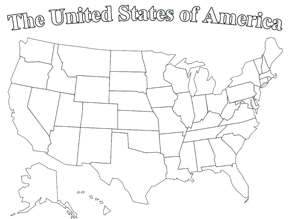 974x731 States Coloring Pages Coloring Page Of United States Coloring
