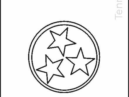 440x330 Tennessee State Coloring Pages Pics Tennessee State Flag Coloring