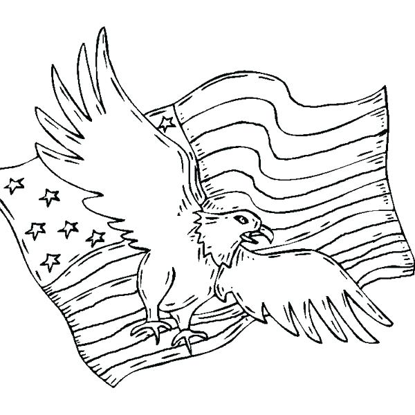 600x600 The United States America Flag Coloring Page Coloring Page
