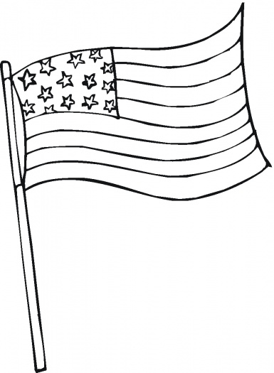 385x525 American Flag Coloring Pages