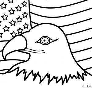 300x300 Coloring Pages Of The United States Flag New American Flag
