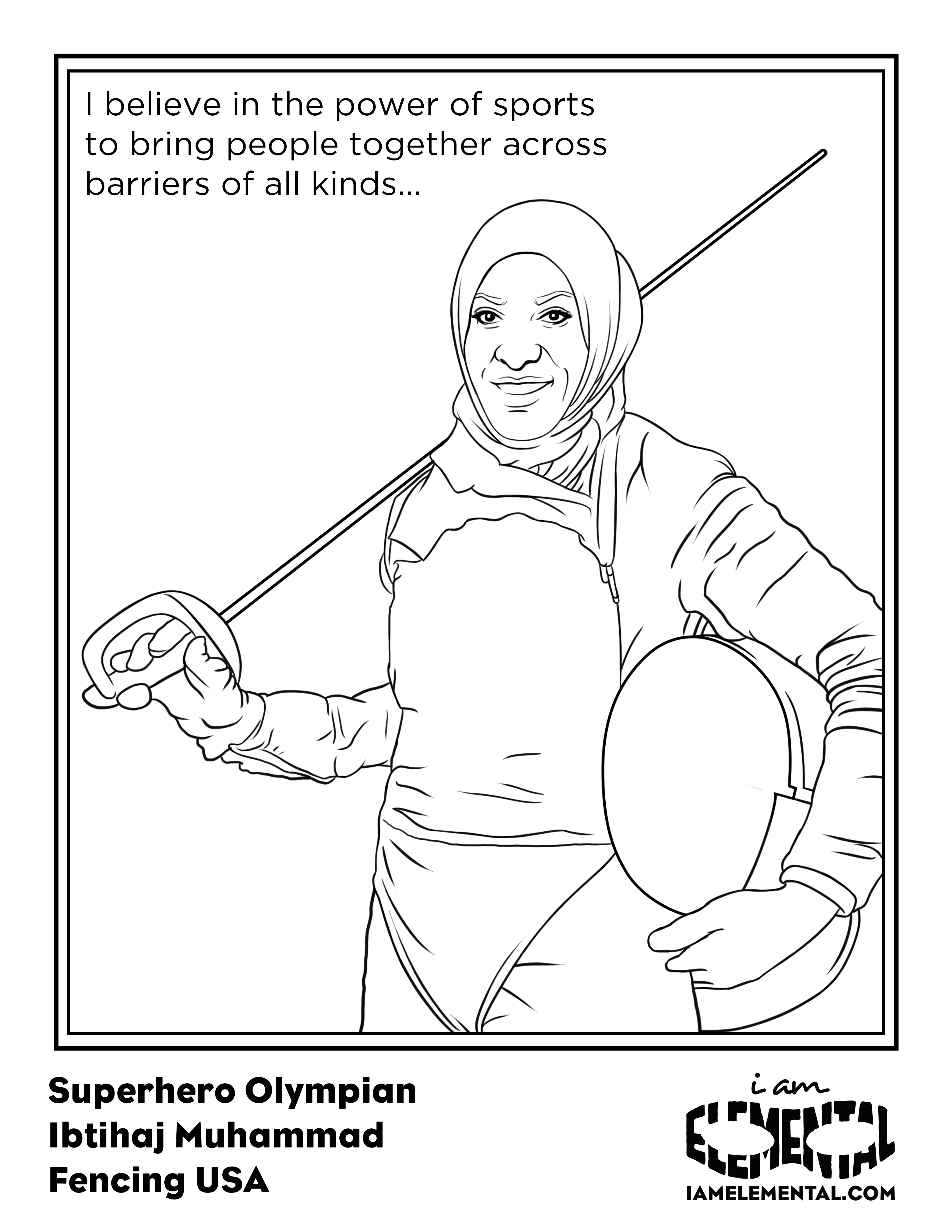 3400x4400 Olympians Coloring Book