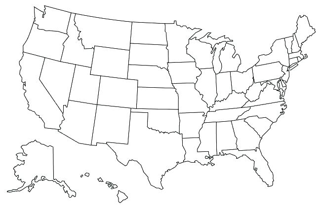 650x420 United States American Flag Coloring Page Pages Printable Map