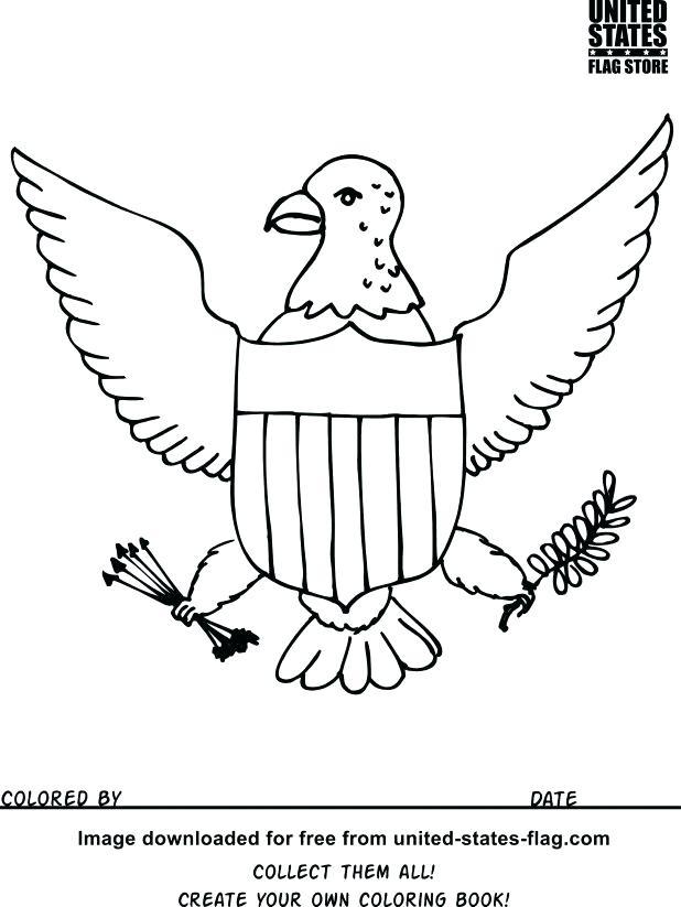 618x823 Us Symbols Coloring Pages Symbols Coloring Pages Illinois State