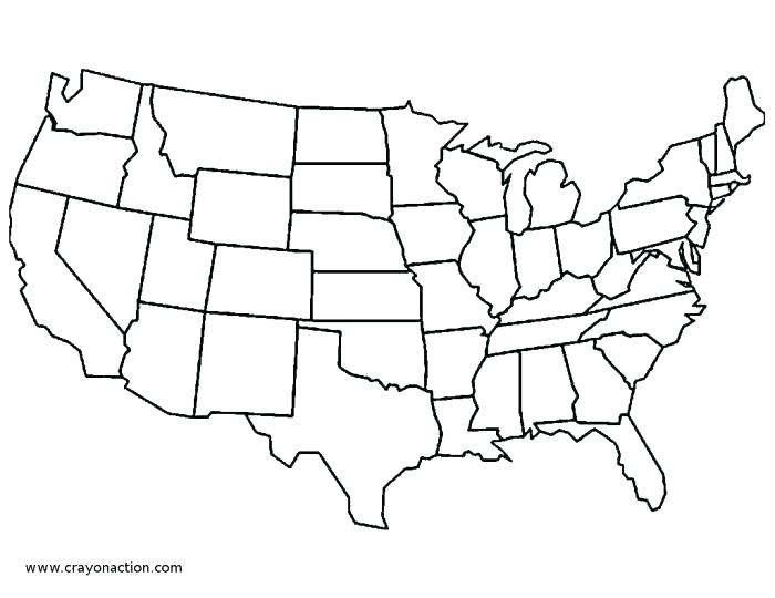 700x540 Usa Coloring Page Simple Coloring Pages Image Map Of United States