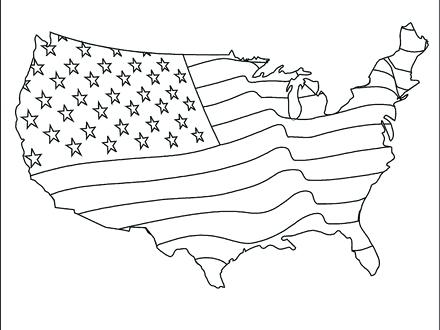 440x330 American Symbols Coloring Pages