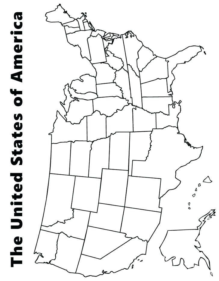 728x933 Map Of Usa Coloring Page