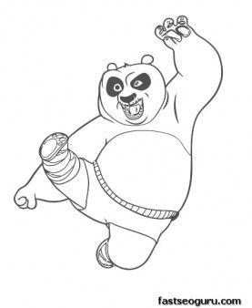277x338 Printable Kung Fu Panda Po Coloring Pages