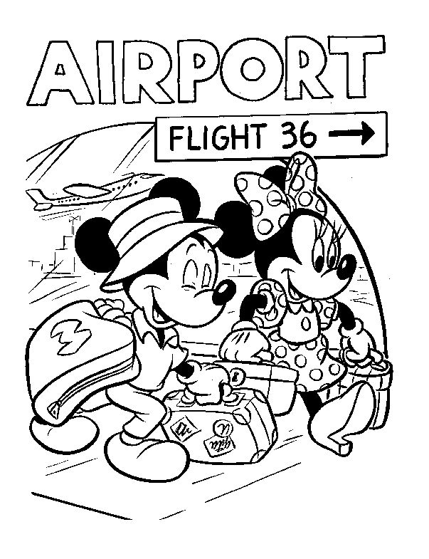 603x785 Best Mickey Mouse Friends Colouring Pages Images