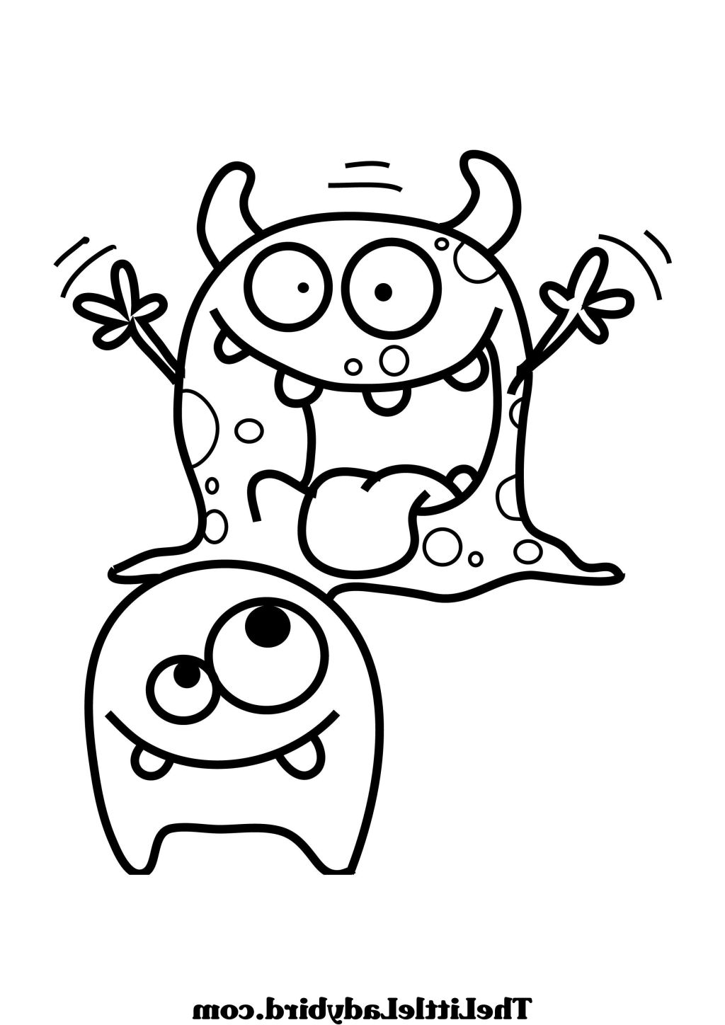 1024x1448 Printable Monster Coloring Pages F Monsters Little Cartoons