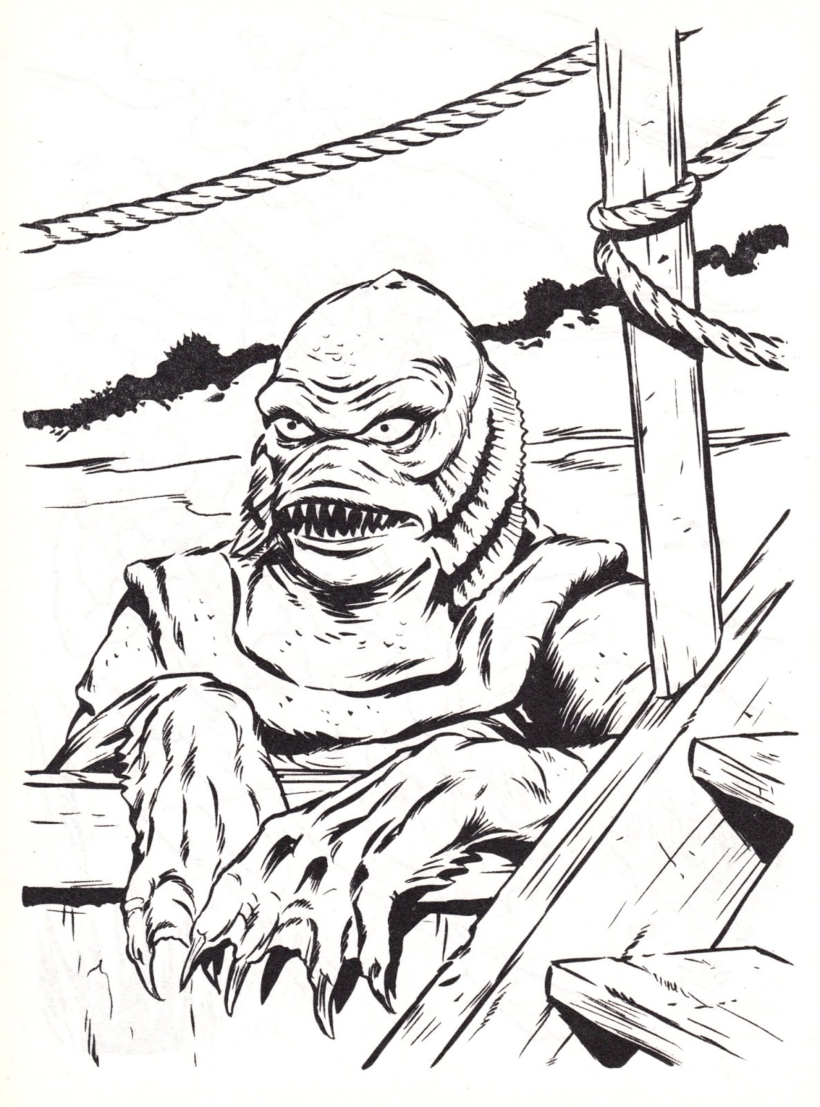 1186x1600 Unparalleled Creature From The Black Lagoon Co