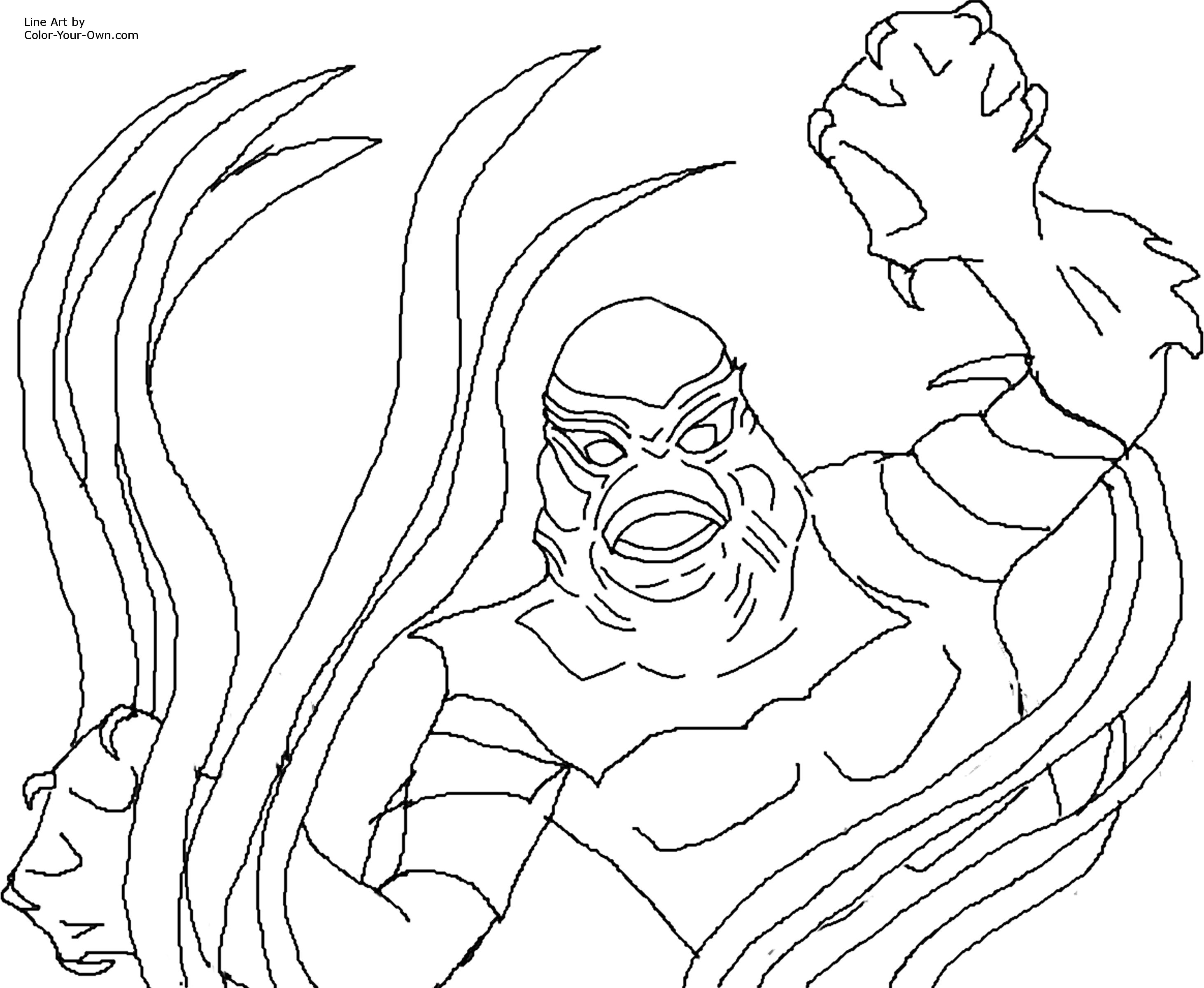 2925x2400 Creature From The Black Lagoon Coloring Pages
