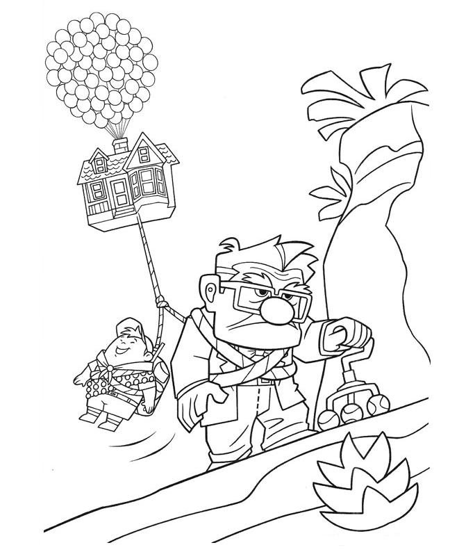 671x794 Up Coloring Pages Disney Up Coloring Pages Getcoloringpages