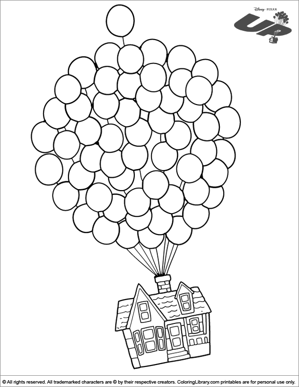 612x792 Up Coloring Picture