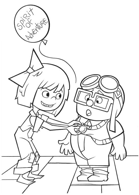 567x794 Up Movie Coloring Pages