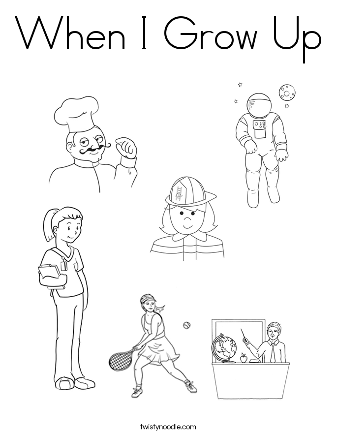 685x886 When I Grow Up Coloring Page
