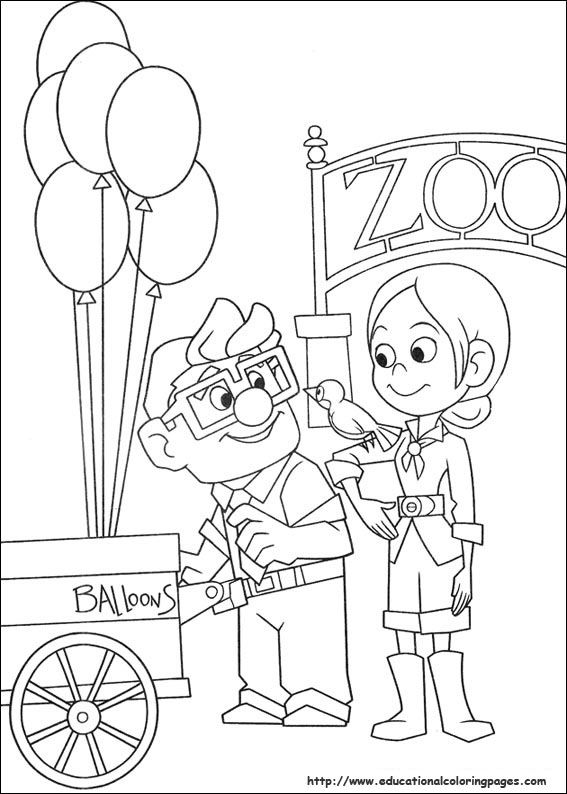 567x794 Pixar Up Coloring Pages Coloring Disney Crafts