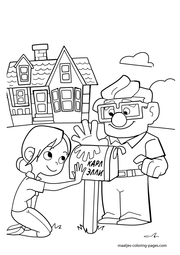 595x842 Pixar Up House Coloring Pages, Coloring Pages Pixar