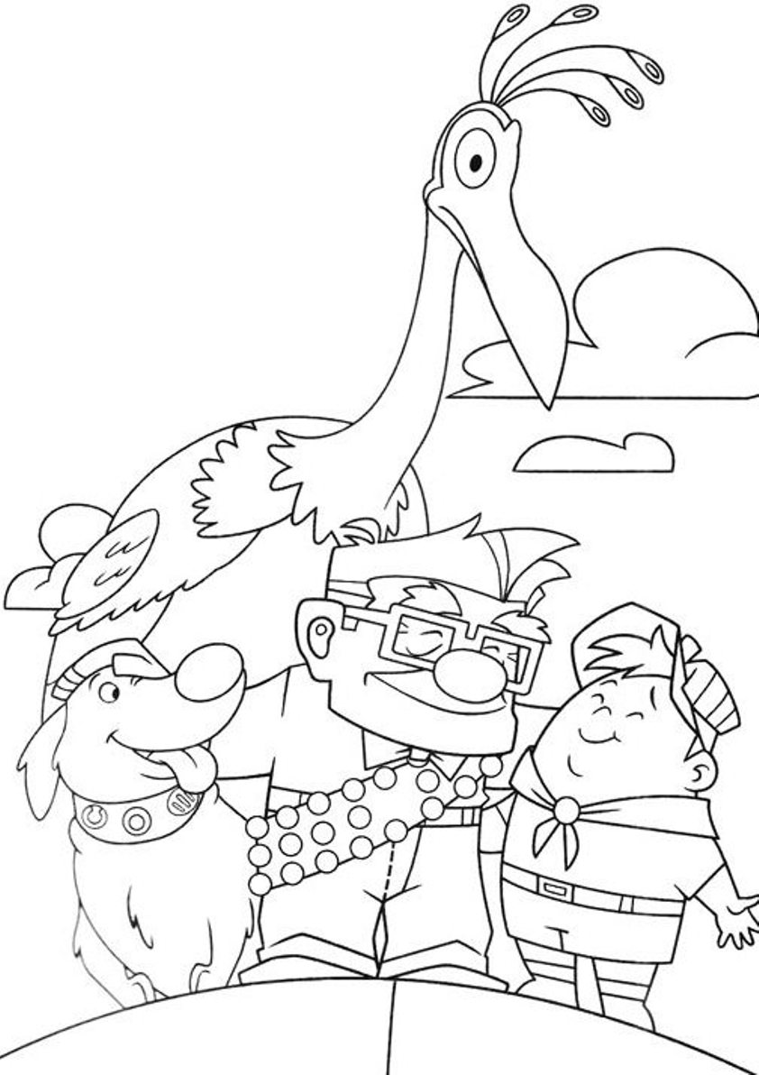 842x1192 Pixar Up Coloring Pages Coloring Daycare Crafts