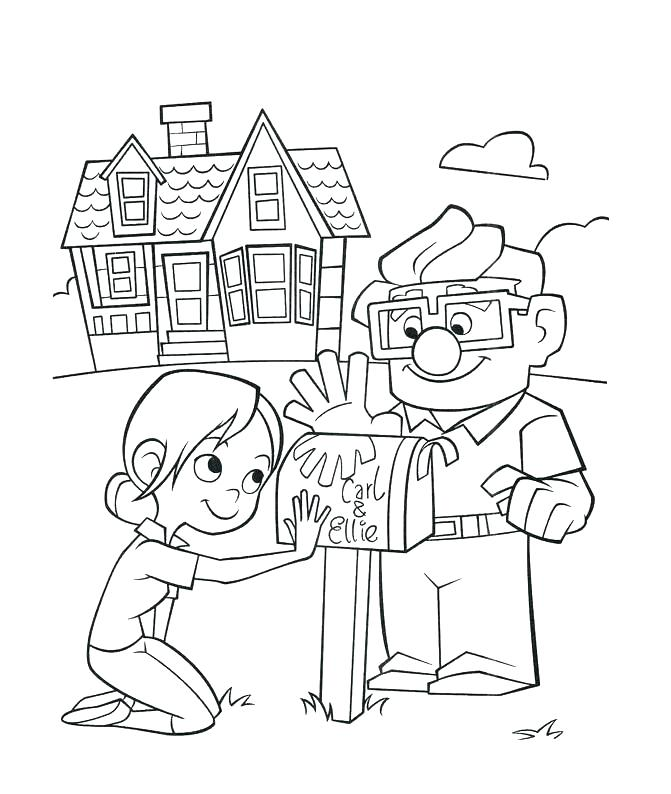671x794 Disney Up Coloring Pages Up Coloring Pages Up Coloring Pages House